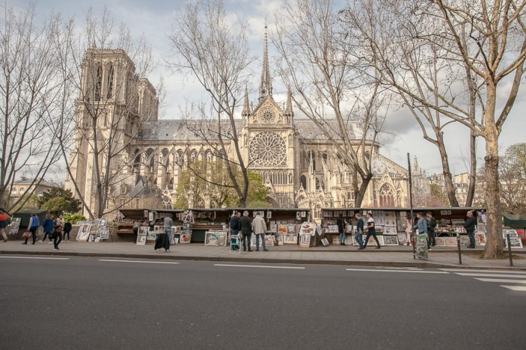 'COLBERT STUDIO behind Notre Dame de Paris Cathedral